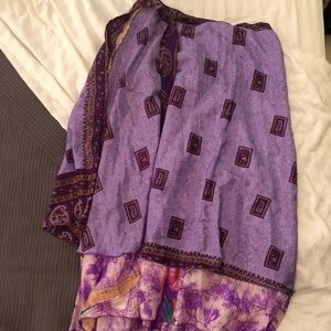Dresses & Skirts - Long Sari Wrap reversible purple skirt
